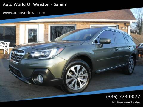 2018 Subaru Outback for sale at Auto World Of Winston - Salem in Winston Salem NC
