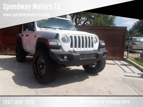 2018 Jeep Wrangler Unlimited for sale at Speedway Motors TX in Fort Worth TX