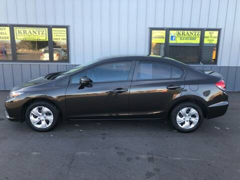 2014 Honda Civic for sale at Krantz Motor City in Watertown SD