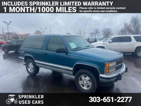 1993 Chevrolet Blazer for sale at Sprinkler Used Cars in Longmont CO