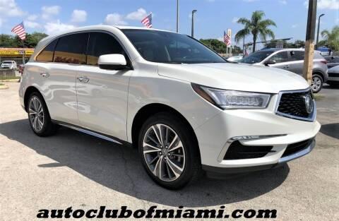 2017 Acura MDX for sale at AUTO CLUB OF MIAMI, INC in Miami FL
