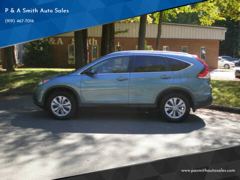 2013 Honda CR-V for sale at P & A Smith Auto Sales in Cary NC