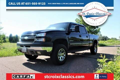 2005 Chevrolet Silverado 2500HD for sale at St. Croix Classics in Lakeland MN
