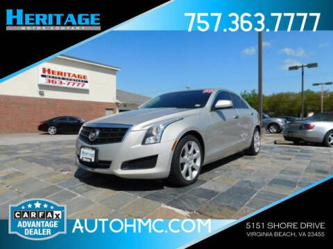 2014 Cadillac ATS for sale at Heritage Motor Company in Virginia Beach VA