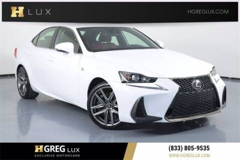 2019 Lexus IS 300 for sale at HGREG LUX EXCLUSIVE MOTORCARS in Pompano Beach FL