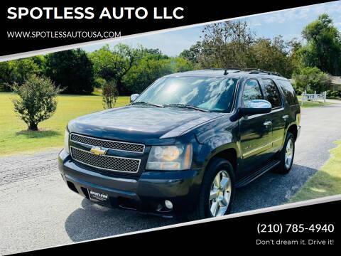 2010 Chevrolet Tahoe for sale at SPOTLESS AUTO LLC in San Antonio TX