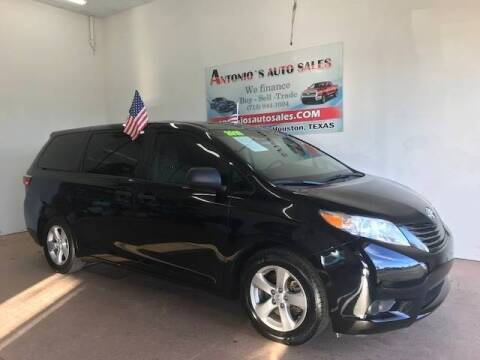 2016 Toyota Sienna for sale at Antonio's Auto Sales in South Houston TX