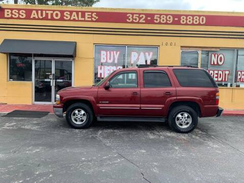 2002 Chevrolet Tahoe for sale at BSS AUTO SALES INC in Eustis FL