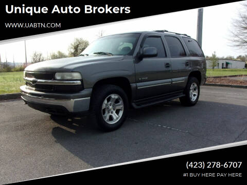 2001 Chevrolet Tahoe for sale at Unique Auto Brokers in Kingsport TN