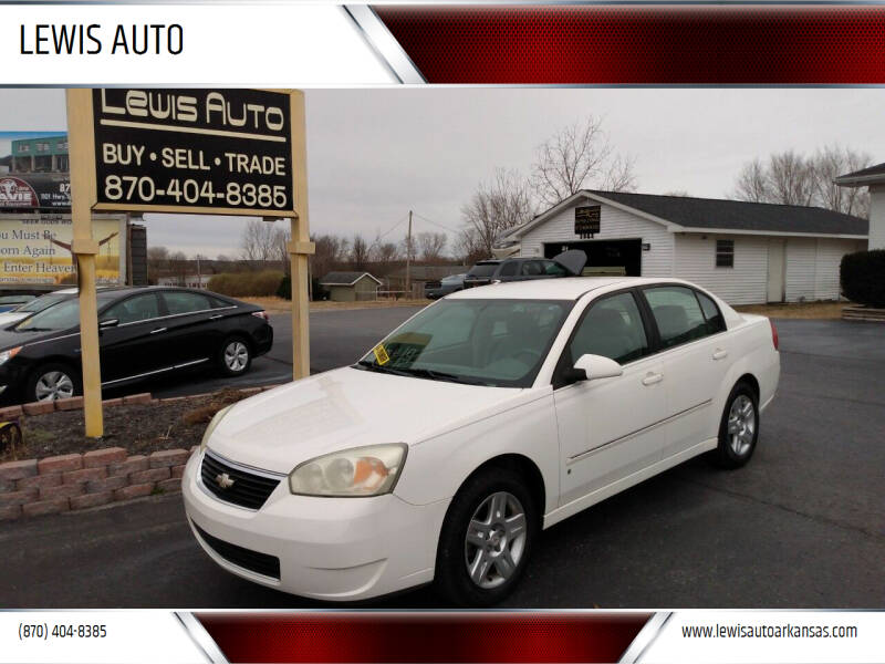 2006 Chevrolet Malibu for sale at LEWIS AUTO in Mountain Home AR