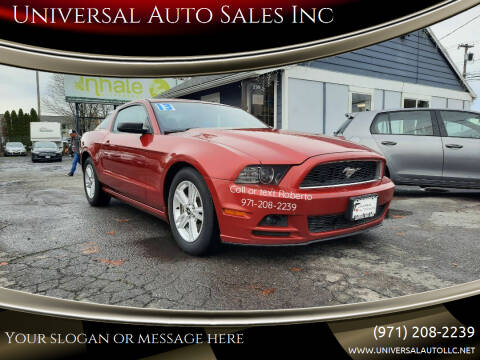 2013 Ford Mustang for sale at Universal Auto Sales Inc in Salem OR