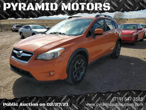 2013 Subaru XV Crosstrek for sale at PYRAMID MOTORS - Pueblo Lot in Pueblo CO