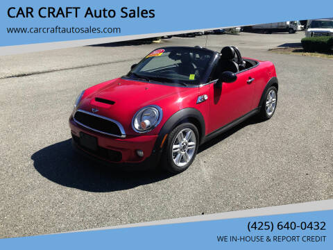2012 MINI Cooper Roadster for sale at Car Craft Auto Sales Inc in Lynnwood WA