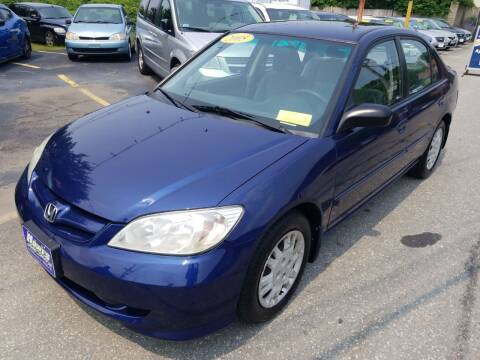 2005 Honda Civic for sale at Howe's Auto Sales in Lowell MA