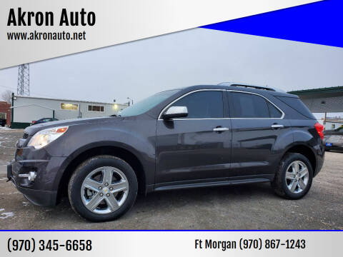2014 Chevrolet Equinox for sale at Akron Auto in Akron CO