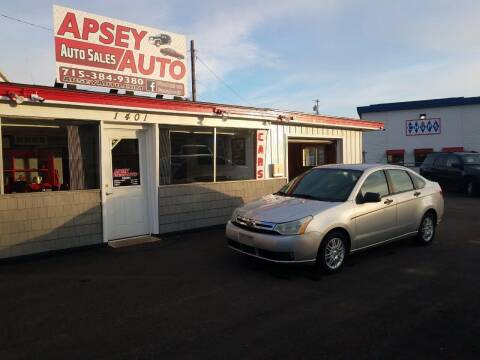 2009 Ford Focus for sale at Apsey Auto in Marshfield WI