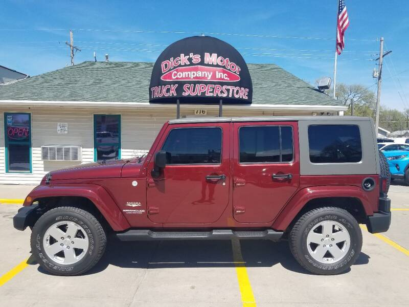 2010 Jeep Wrangler Unlimited for sale at DICK'S MOTOR CO INC in Grand Island NE