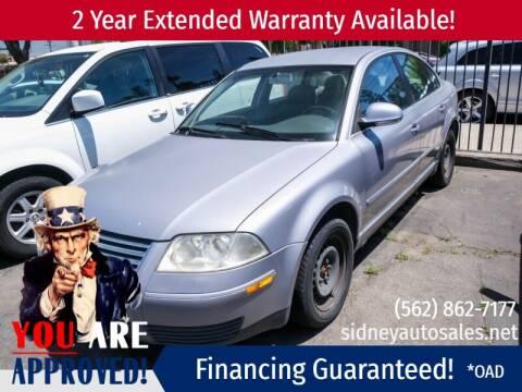2004 Volkswagen Passat for sale at Sidney Auto Sales in Downey CA