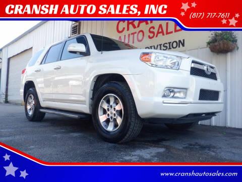 2010 Toyota 4Runner for sale at CRANSH AUTO SALES, INC in Arlington TX