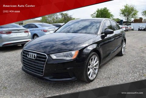 2015 Audi A3 for sale at American Auto Center in Austin TX