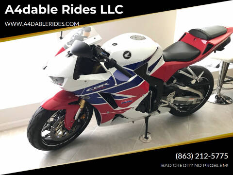 2013 Honda CBR for sale at A4dable Rides LLC in Haines City FL
