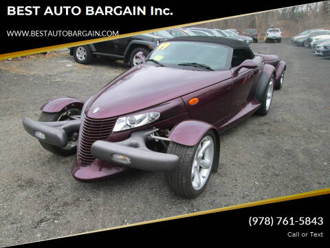 1999 Plymouth Prowler for sale at BEST AUTO BARGAIN inc. in Lowell MA