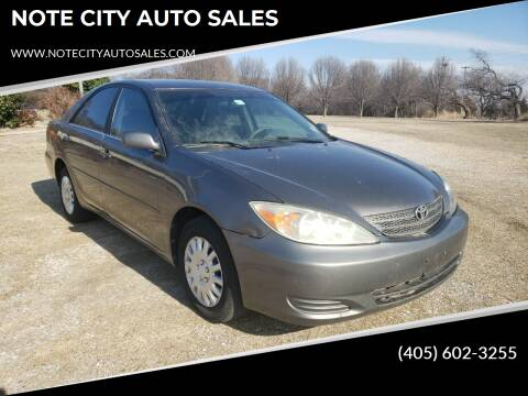 2003 Toyota Camry for sale at NOTE CITY AUTO SALES in Oklahoma City OK