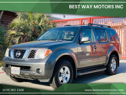 2007 Nissan Pathfinder for sale at BEST WAY MOTORS INC in San Diego CA