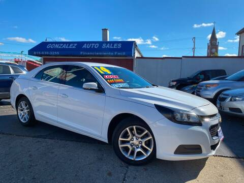 2014 Chevrolet Malibu for sale at Gonzalez Auto Sales in Joliet IL