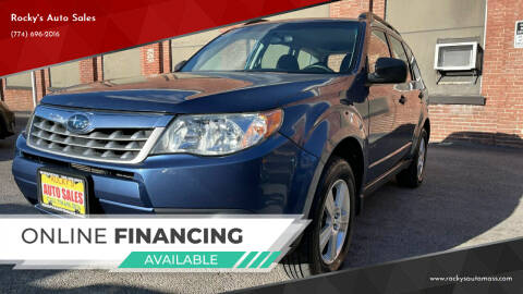 2012 Subaru Forester for sale at Rocky's Auto Sales in Worcester MA