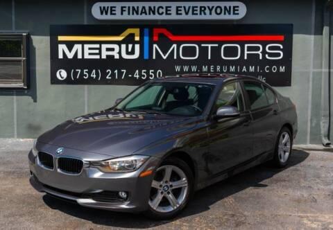 2013 BMW 3 Series for sale at Meru Motors in Hollywood FL