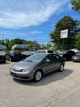 2012 Honda Civic for sale at NEWFOUND MOTORS INC in Seabrook NH