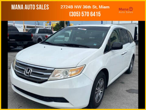 2011 Honda Odyssey for sale at MANA AUTO SALES in Miami FL