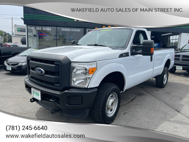 2015 Ford F-250 Super Duty for sale at Wakefield Auto Sales of Main Street Inc. in Wakefield MA