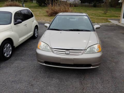 2002 Honda Civic for sale at K & P Used Cars, Inc. in Philadelphia TN