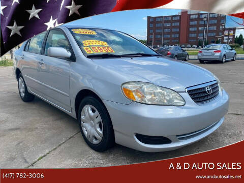 2006 Toyota Corolla for sale at A & D Auto Sales in Joplin MO