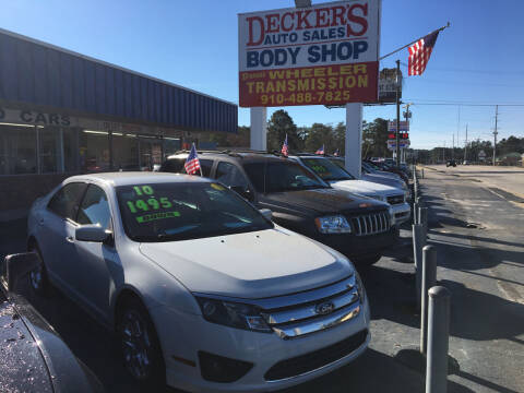 2010 Ford Fusion for sale at Deckers Auto Sales Inc in Fayetteville NC