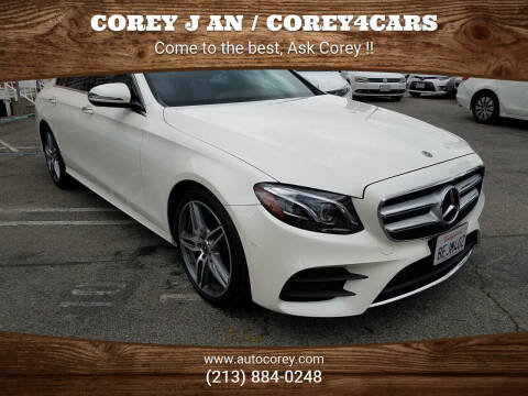 2018 Mercedes-Benz E-Class for sale at WWW.COREY4CARS.COM / COREY J AN in Los Angeles CA