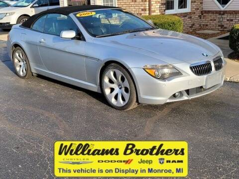 2007 BMW 6 Series for sale at Williams Brothers - Pre-Owned Monroe in Monroe MI