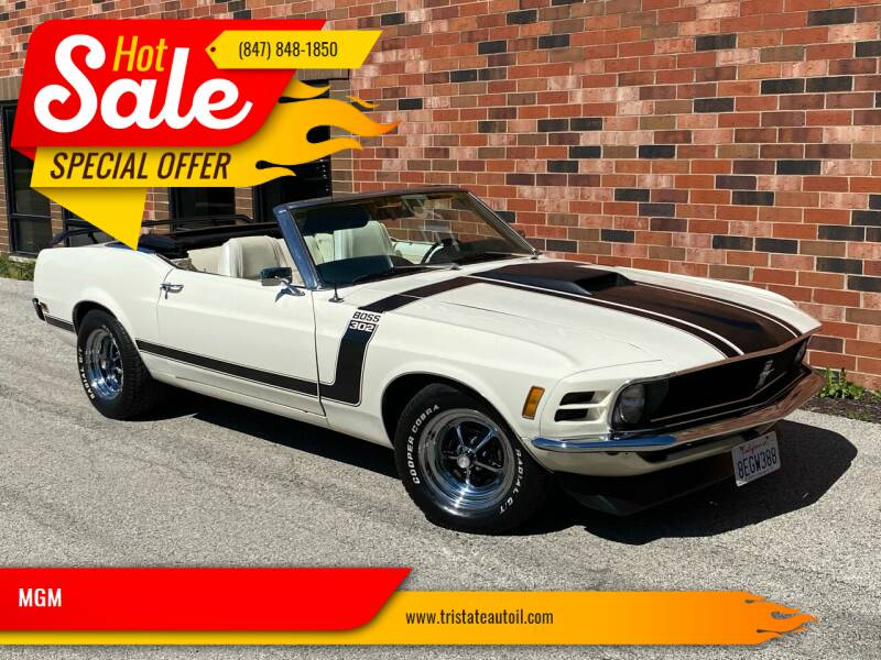 1970 Ford Mustang for sale at MGM CLASSIC CARS in Addison IL