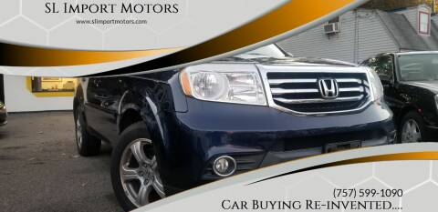 2013 Honda Pilot for sale at SL Import Motors in Newport News VA