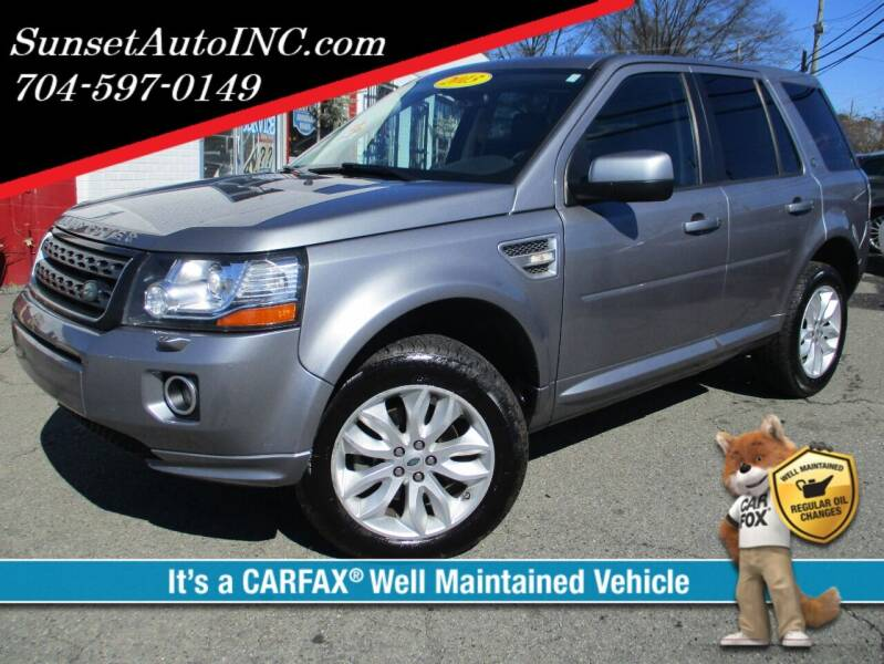 2013 Land Rover LR2 for sale at Sunset Auto in Charlotte NC