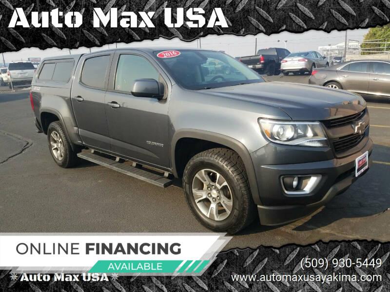 2016 Chevrolet Colorado for sale at Auto Max USA in Yakima WA