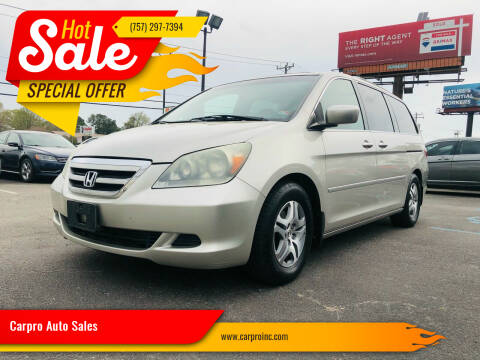 2005 Honda Odyssey for sale at Carpro Auto Sales in Chesapeake VA