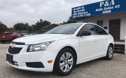 2012 Chevrolet Cruze for sale at P & A AUTO SALES in Houston TX