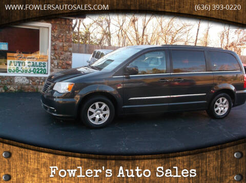 2012 Chrysler Town and Country for sale at Fowler's Auto Sales in Pacific MO