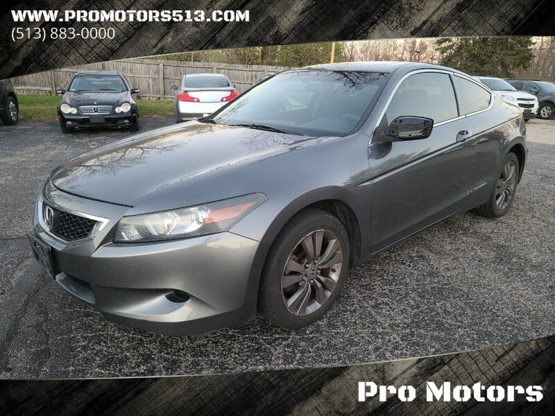 2010 Honda Accord for sale at Pro Motors in Fairfield OH