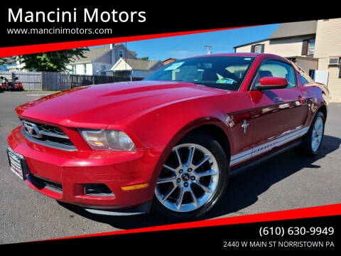 2010 Ford Mustang for sale at Mancini Motors in Norristown PA