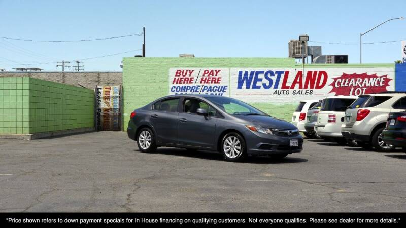 2012 Honda Civic for sale at Westland Auto Sales in Fresno CA