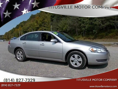 2008 Chevrolet Impala for sale at Titusville Motor Company in Titusville PA